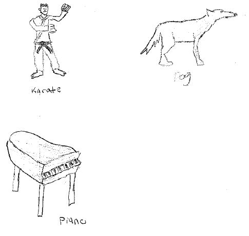 CWB Karate piano dog